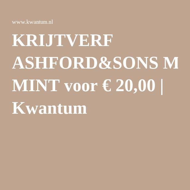 KRIJTVERF ASHFORD&SONS MINT voor € 20,00 | Kwantum