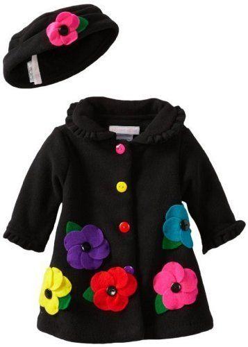 Black Fleece Flower Applique Coat with Matching Hat (3T) by Bonnie Jean, http://www.amazon.com/dp/B00EPFAFM4/ref=cm_sw_r_pi_dp_4Ikzsb1QKHG5Q