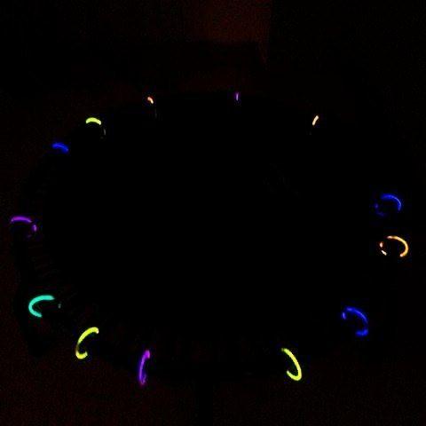 Glow in the dark trampoline!!