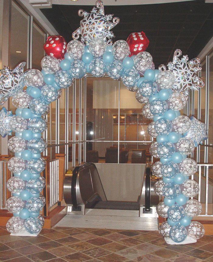 Winter Wedding Arch Decoration Ideas: Frozen/snowflake/winterland