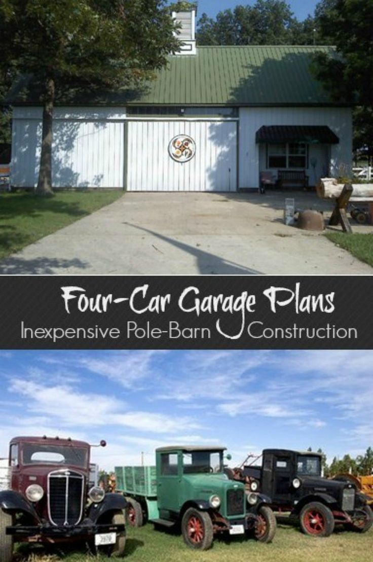 FourCar Garage Plans with Lofts 3 Different Sets of