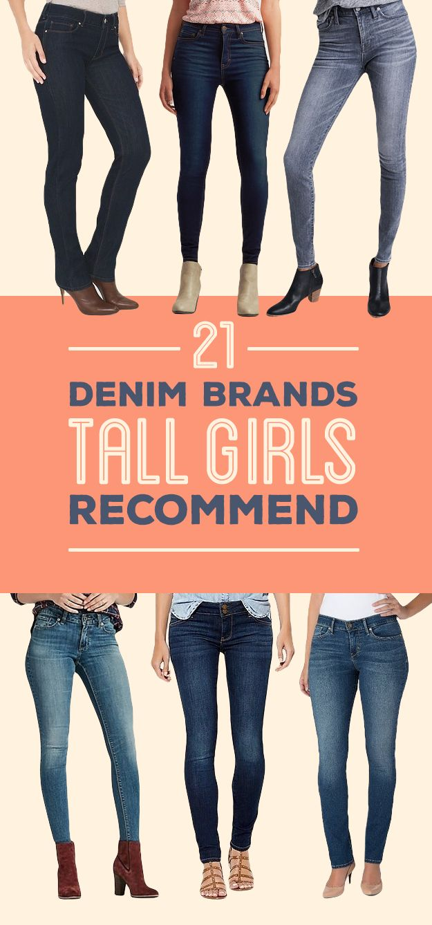 """Their pants and jeans come in regular, tall, <i>and</i> taller!"""
