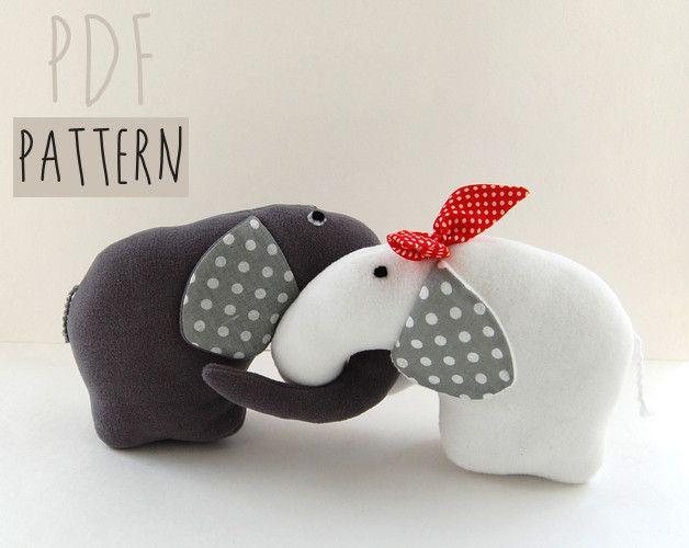 Pattern Elephants DIY stuffed animal toy PDF INSTANT DOWNLOAD toy for kids  Make your own stuffed Endless elephants.    You can sell items made from this pattern, provided that they are handmade by...
