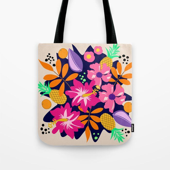 Fabric Market Bag Philodendron Eco Friendly Reusable LINED Cloth Shopping Tote Bag Store Bag lined tropical leaves bag Shopping bag