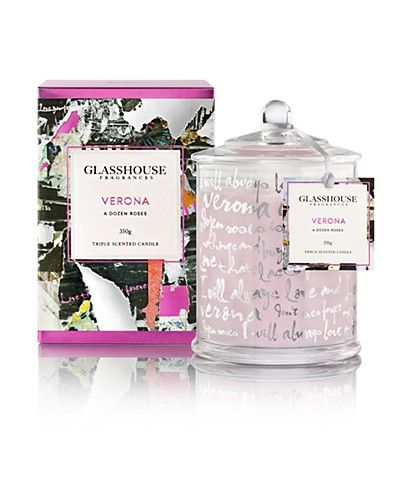 Verona A Dozen Roses Limited Edition Candle by Glasshouse Fragrances