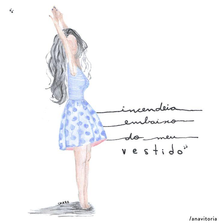 animation gif girl woman dresses fire music anavitoria illustration watercolor