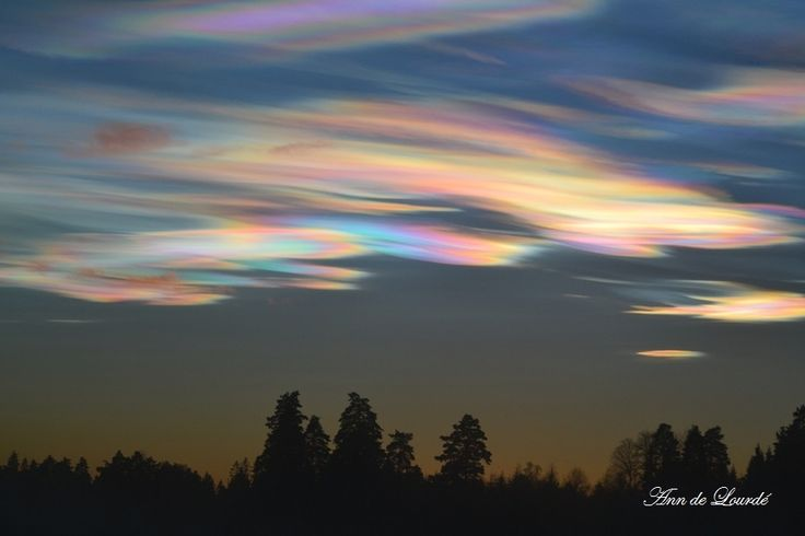 Cloud Iridescence, Monday, 22nd December 2014, view from the Garden.