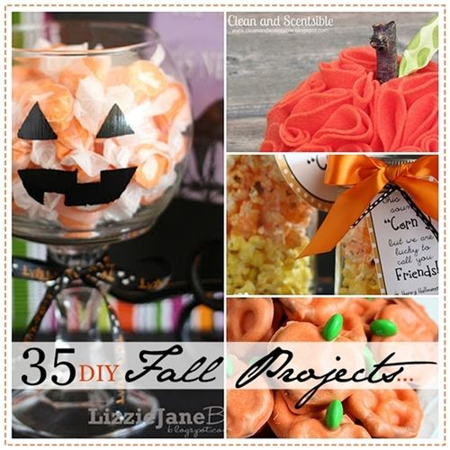 35 DIY of the best Fall Projects... Pin it now and make them later! #Halloween