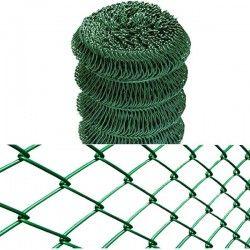 Plasa de gard verde replax ø2.50 mm 55x55mm 1.25x25m