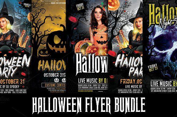 Halloween Flyer Bundle by Gayuma on @creativemarket