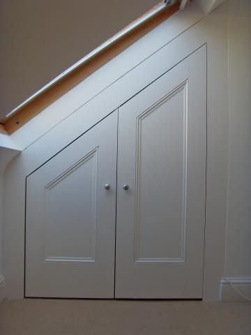 under stair storage space doors