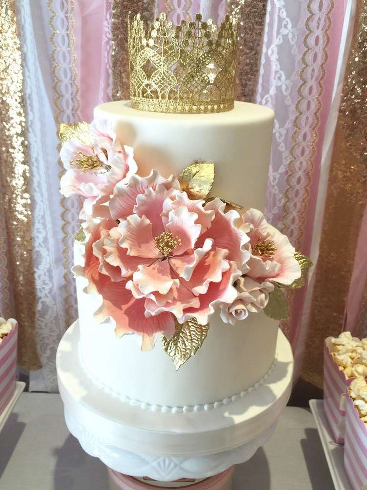 Pink and Gold Birthday Party Ideas   Photo 6 of 20