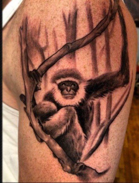 más de 25 ideas increíbles sobre tatuajes de mono en pinterest