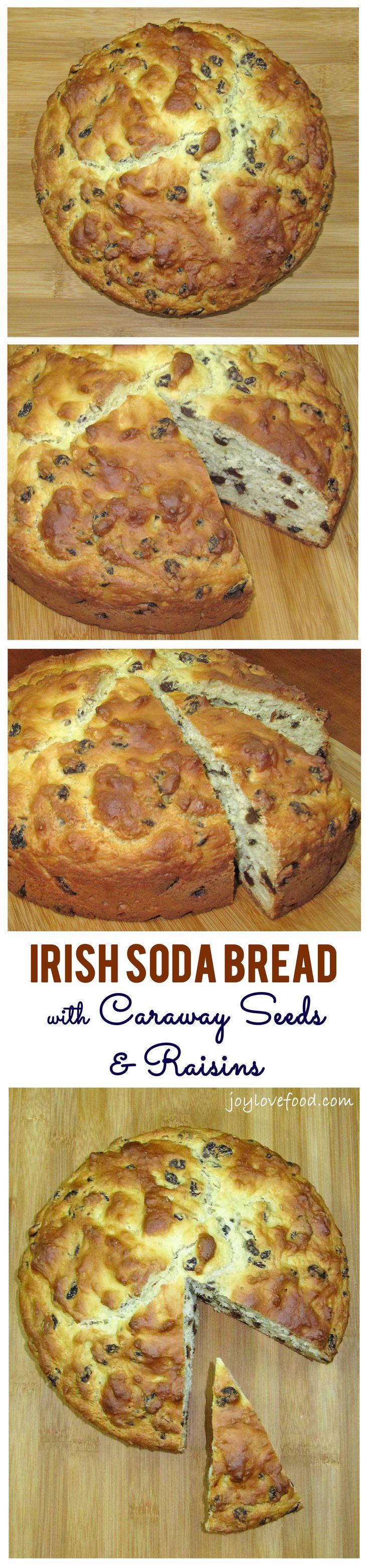 Irish Soda Bread with Caraway Seeds and Raisins