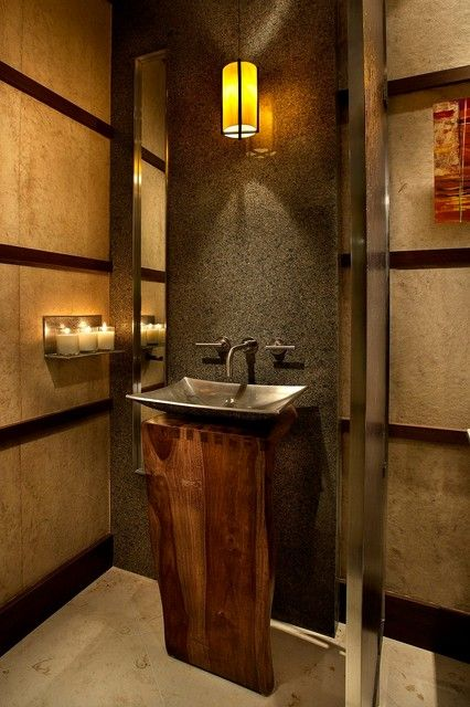 Pedestal Sink Small Bathroom