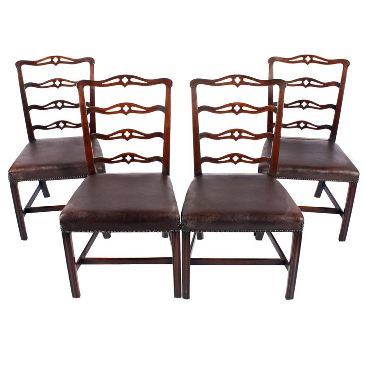 Four 18th Century Ladder Back Chairs