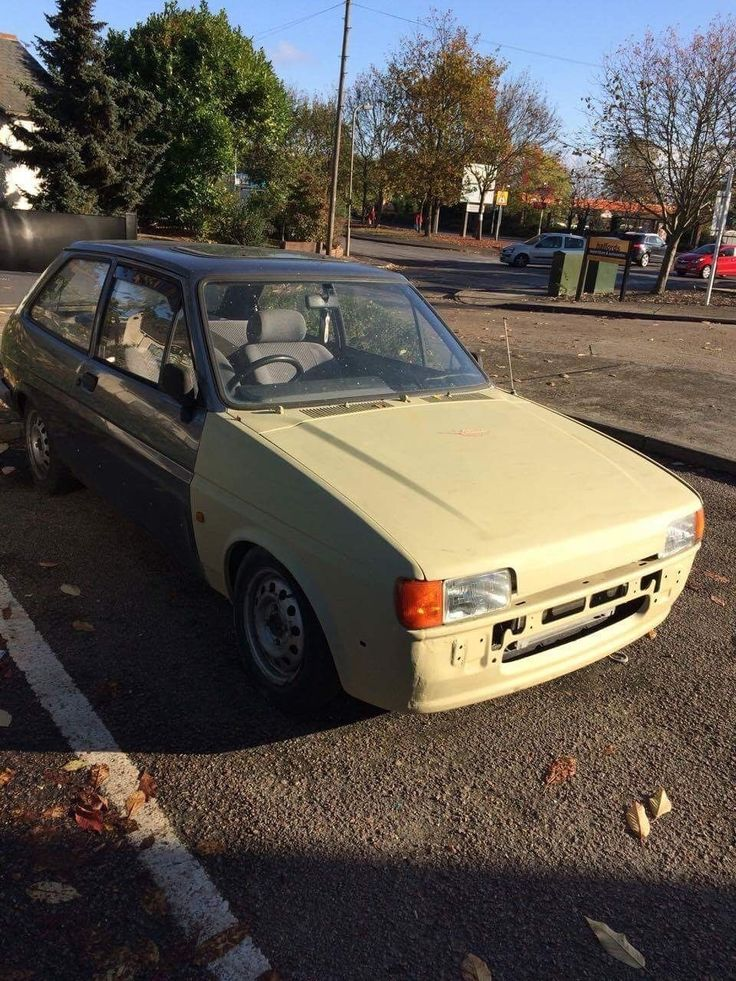 eBay: Mk2 ford fiesta modified 1.1 1988 gazz gold coilovers unfinished project