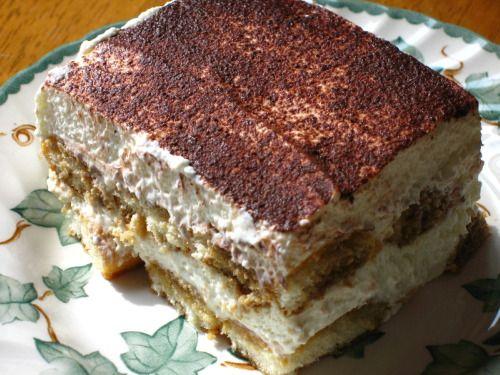 Easy Tiramisu recipe: Ladyfingers soaked in Kahlua, layered with cream cheese, brandy whipped cream - Providence Food | Examiner.com