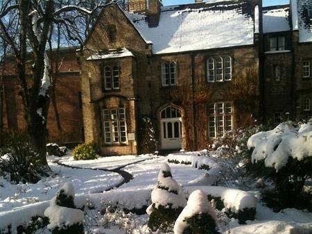 York St John University in the snow