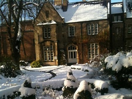 York St John University in the snow