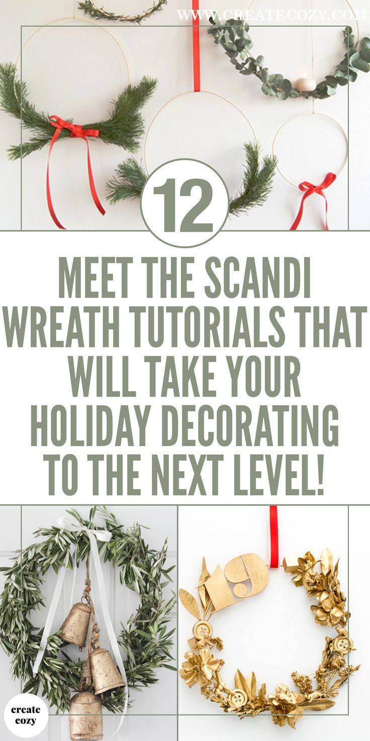 These cool scandinavian holiday wreaths are perfect Christmas and Holiday decor ideas, decorate your front door or porch in a modern style for the holidays with these unusual holiday wreath ideas.