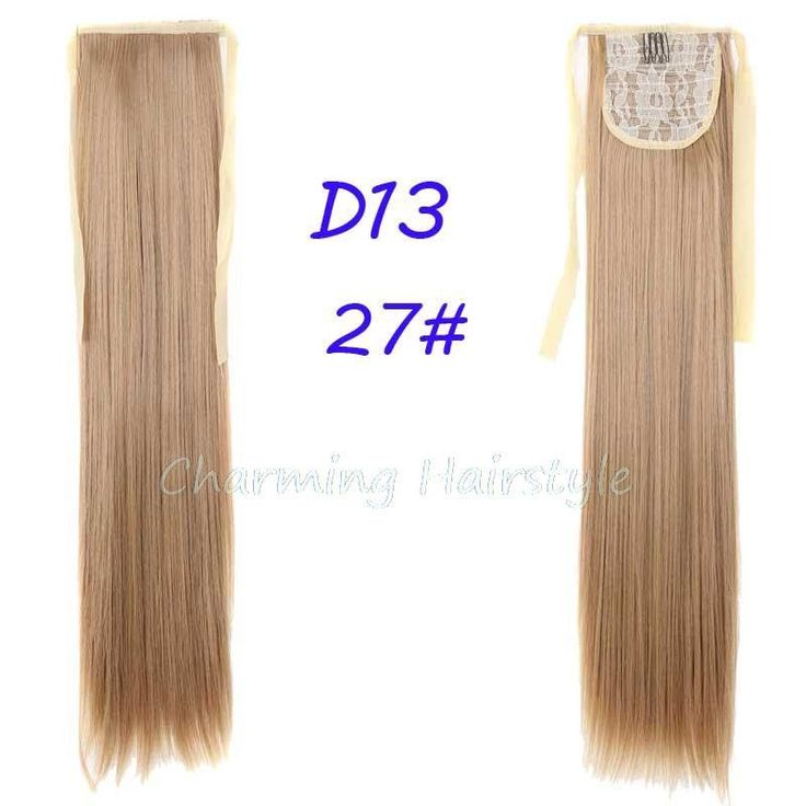 """Fake Hair Ponytail Long Straight Hair Pieces Synthetic Hair 105g 22"""" Hairpiece Clip In Pony Tail Ponytail apply Multicolor"""