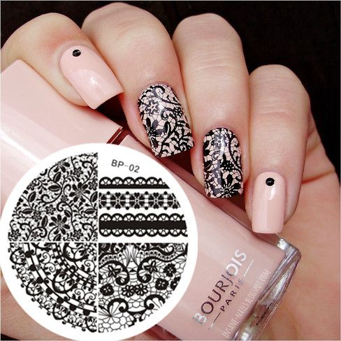 New Hot 1 Pc Chic Lace Pattern Nail Art Stamp Template Image Plate BORN PRETTY Series Nail Stamping Plate #02
