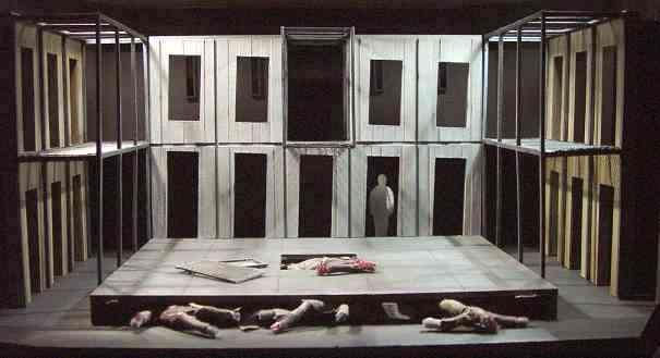 MACBETH set model. Lyric Theatre, Belfast. 2002. Set design by Stuart Marshall.
