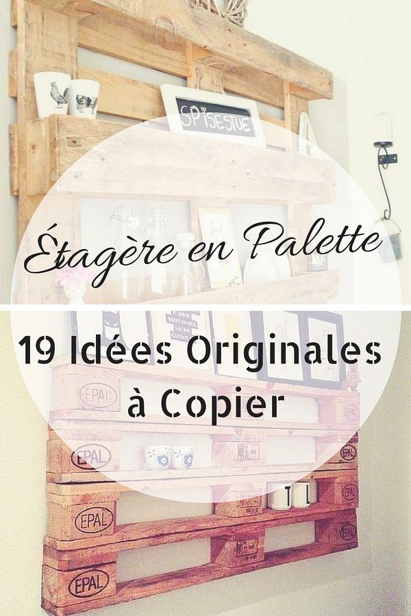 Étagère en Palette : 19 Idées Originales à Copier http://www.homelisty.com/etagere-palette/ Plus