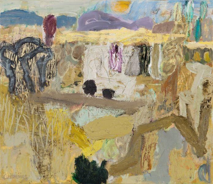 artist Elisabeth Cummings, oil on canvas, Monaro Morning, 2015