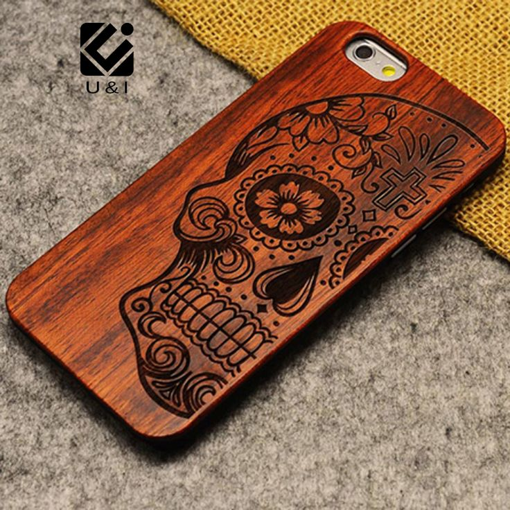 """Лучший продукт из Китая - купить """"новый бренд тонкий роскошь Бамбук дерево Телефон Чехол для iPhone 5 5С 6 6с 6plus 6S плюс 7 7Plus покрыть деревянные высокое качество противоударный"""" всего за 4,89 долл."""