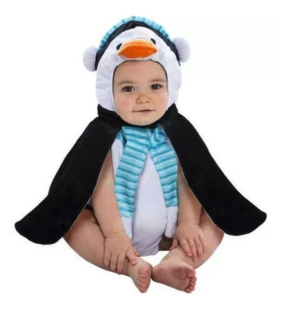 Baby PENGUIN Halloween Bubble Costume Plush NEW 0-9 Months  #Disguise #CompleteOutfit