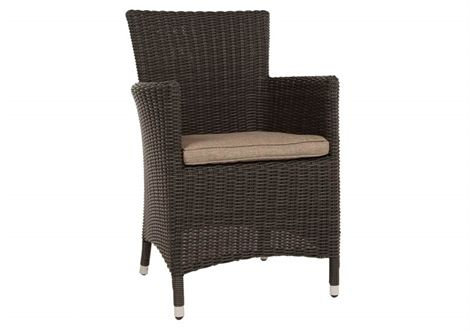 Oliver Wicker Chair Mocha/River Sand