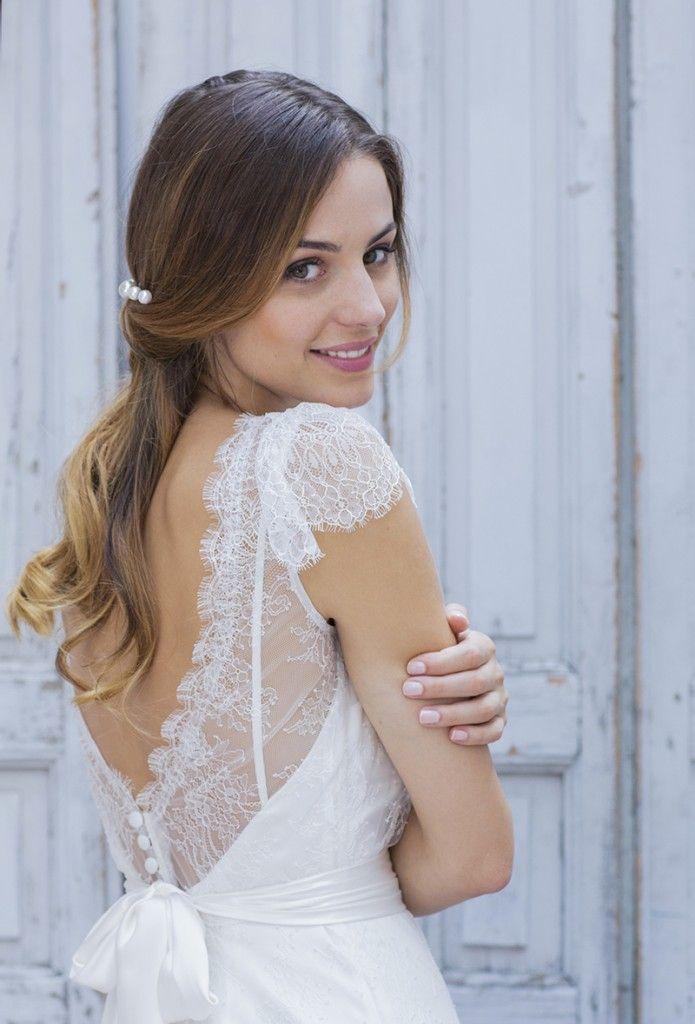 Robe de mariée dos nu et dentelle - Collection Marie Laporte 2014 - modèle Celestina La Fiancée du Panda blog Mariage & Lifestyle