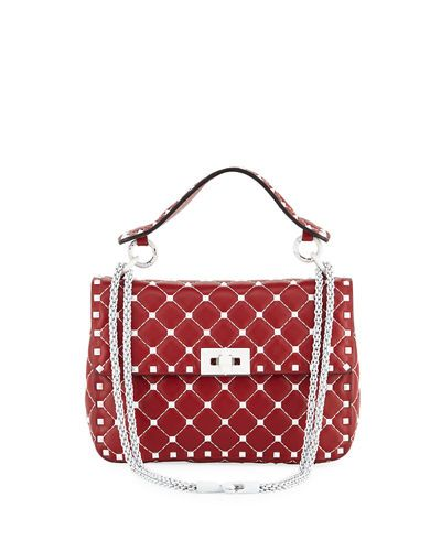 a8096d3e67 VALENTINO FREE ROCKSTUD SPIKE MEDIUM QUILTED TOP-HANDLE BAG. #valentino # bags #leather #hand bags #