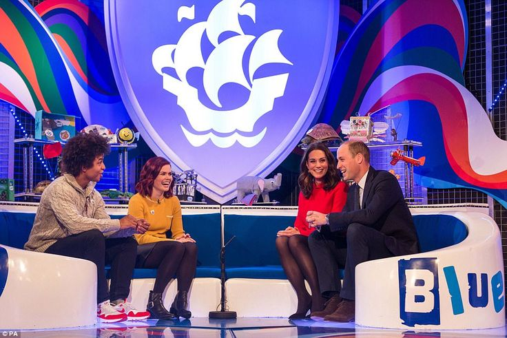 The Duke and Duchess of Cambridge were awarded Blue Peter badges by presenters Radzi Chiny...