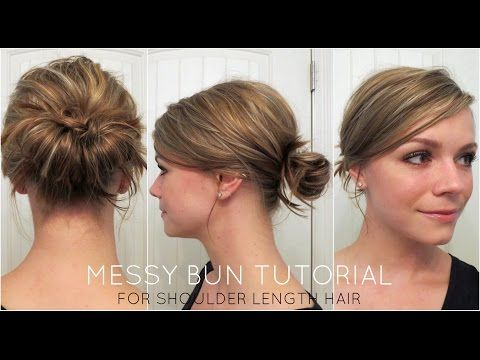 This incredible video tutorial will show women with medium, shoulder-length hair, exactly how to create a messy hair bun in 3 minutes or less! Check it out and visit hairlavie.com for more awesome tips and tricks!