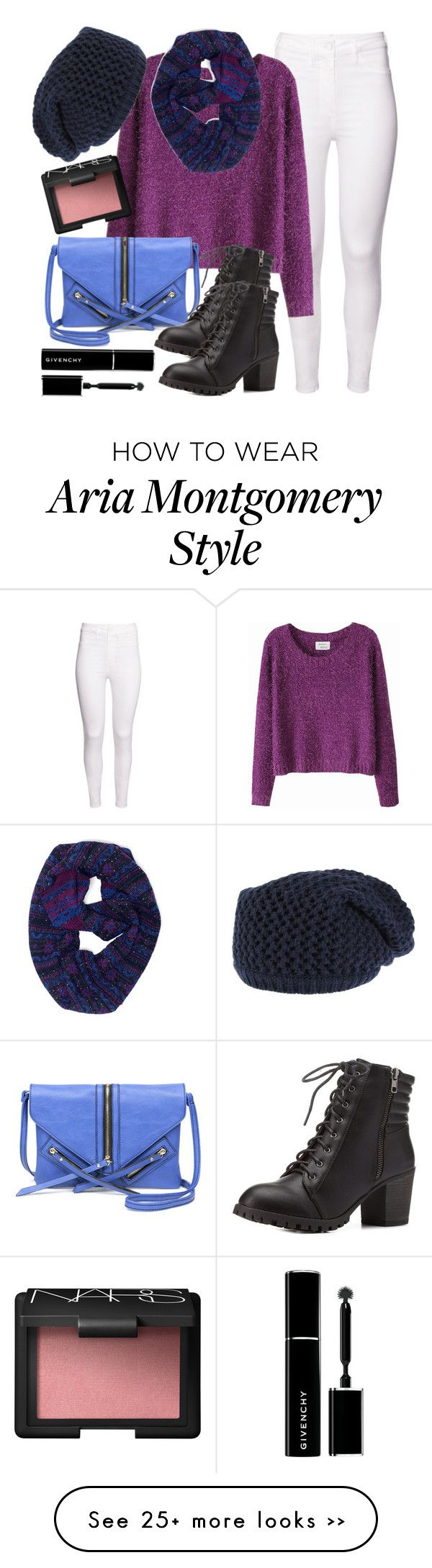 """""""Aria Montgomery inspired outfit with a navy beanie"""" by liarsstyle on Polyvore"""