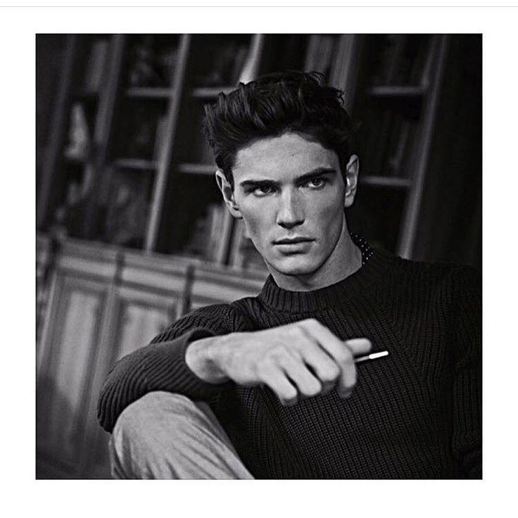 "Julien Sabaud: ""Repost Reiss SS14 campaign  thanks all the team Was à great shoot @dominicshearer @jamiemccormickhair @henrikbulow @premium_models @models_1uk #premiummodels #model #frenchboy #reiss #london #fun"" - In London - 18 February 2016."