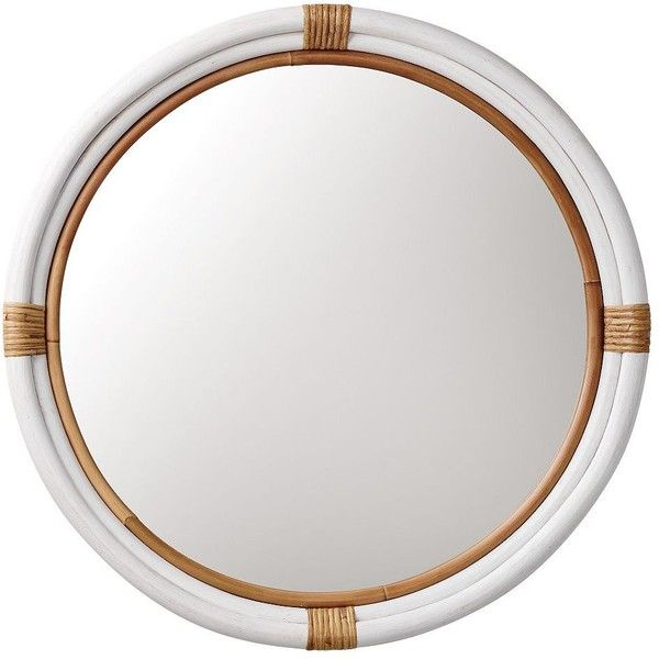 Serena & Lily Montara Mirror – White (385 AUD) found on Polyvore featuring home, home decor, mirrors, mirror, rattan mirror, white home accessories, home wall decor, wall mounted mirror and white home decor