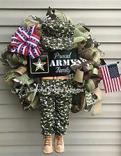 Deco Mesh Army Wreath / Army Door Hanger / Burlap Army Wreath / Deco Mesh Wreat