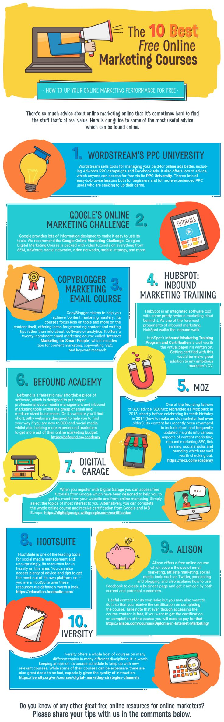 10 Best Free #Online #Marketing Courses - DAL WEB Do you fancy an infographic? There are a lot of them online, but if you want your own please visit http://linfografico.com/en/prices/ Online girano molte infografiche, se ne vuoi realizzare una tutta tua visita http://www.linfografico.com/prezzi/