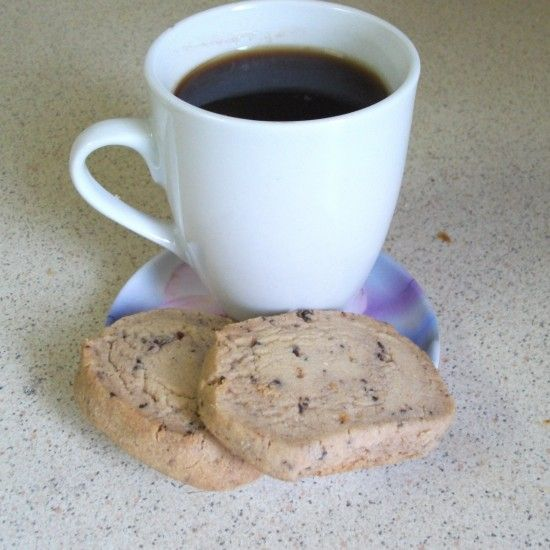 Your Inspiration at Home Chocolate & Almond Shortbread. Great served with coffee! #YIAH