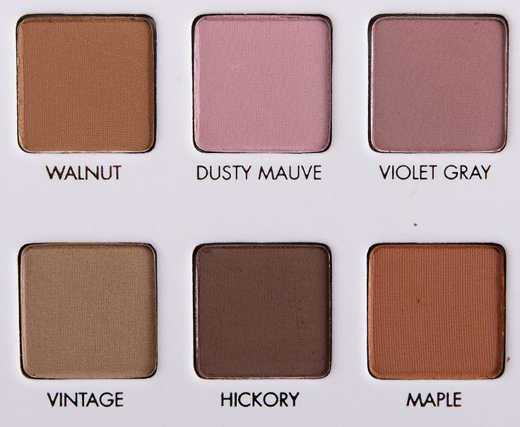 too faced matte colors 1