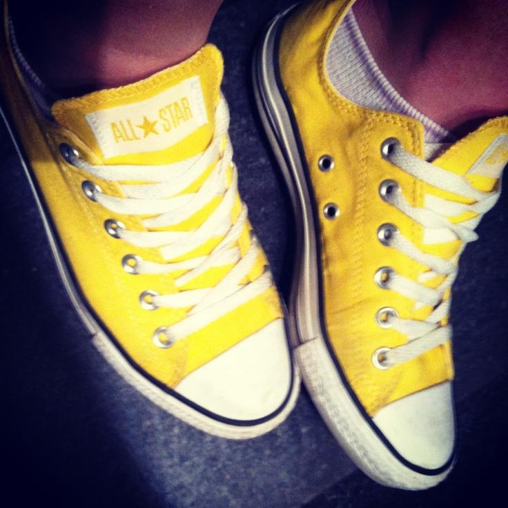 Yellow Chuck Taylor's.