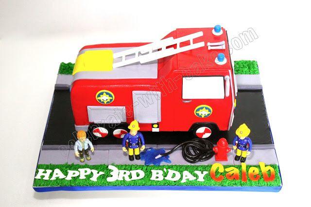 Celebrate with Cake!: Sculpted Fireman Sam Fire Truck Cake