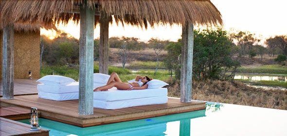 Safari lodge spa at Kapama.