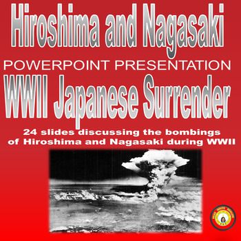 "Created with PowerPoint 2007This presentation includes 24 slides discussing the bombings of Hiroshima and Nagasaki during WWII.  Topics cover The Manhattan Project, the Potsdam Declaration, MacArthur and Operation Downfall, Truman's ultimate decision, ""Little Boy"" and ""Fat Man,"" Japan's surrender, and V-E Day.""  Information is from History.com."
