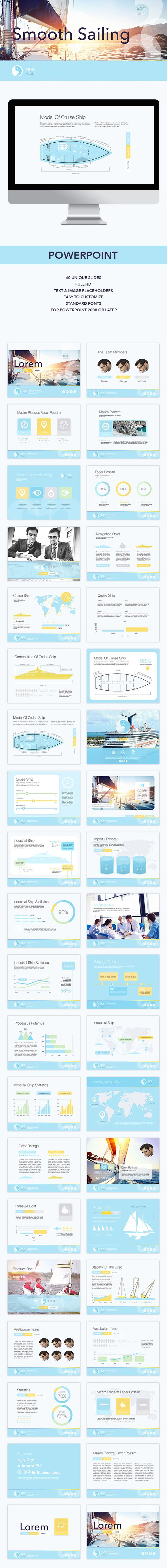 Smooth Sailing - Business PowerPoint Templates