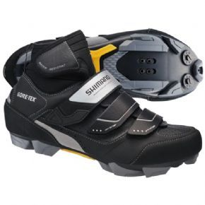 Shimano Mw81 Gore-tex Winter Spd Shoes Prepare yourself for foul weather riding with a pair of Gore-Tex® lined and insulated SPD boots Waterproof Gore-Tex® liner helps keep water out yet still allows the foot to breath improving comfort (n http://www.MightGet.com/february-2017-1/shimano-mw81-gore-tex-winter-spd-shoes.asp